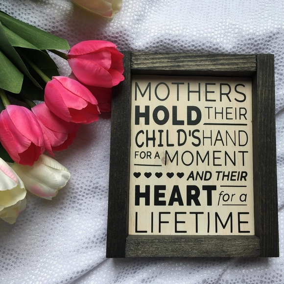 Hand Crafted | Mother/Heart Home Decor Sign